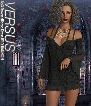 VERSUS - NyX Raven dForce Dress 3D Figure Assets Anagord