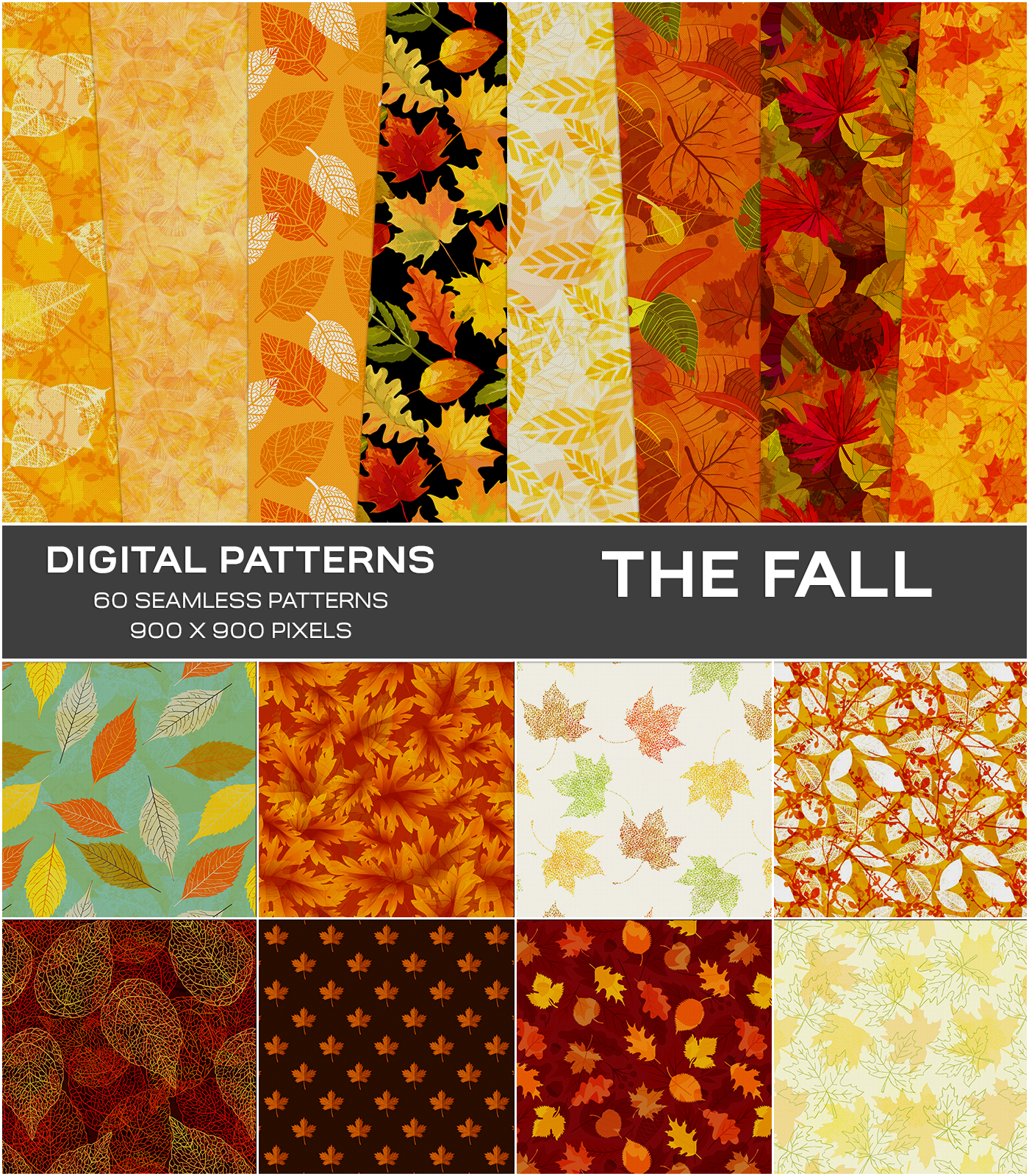 Digital Textures - The Fall by Atenais