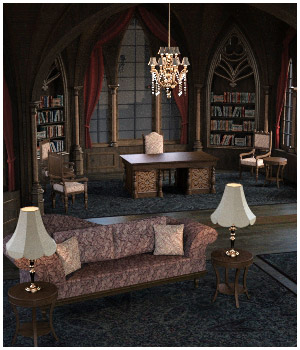 Gothic Room 3D Models RPublishing