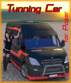 Tunning Car for Poser  3D Models mausel
