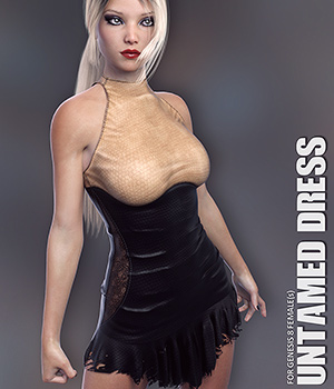 dForce Untamed Dress for Genesis 8 Females 3D Figure Assets lilflame