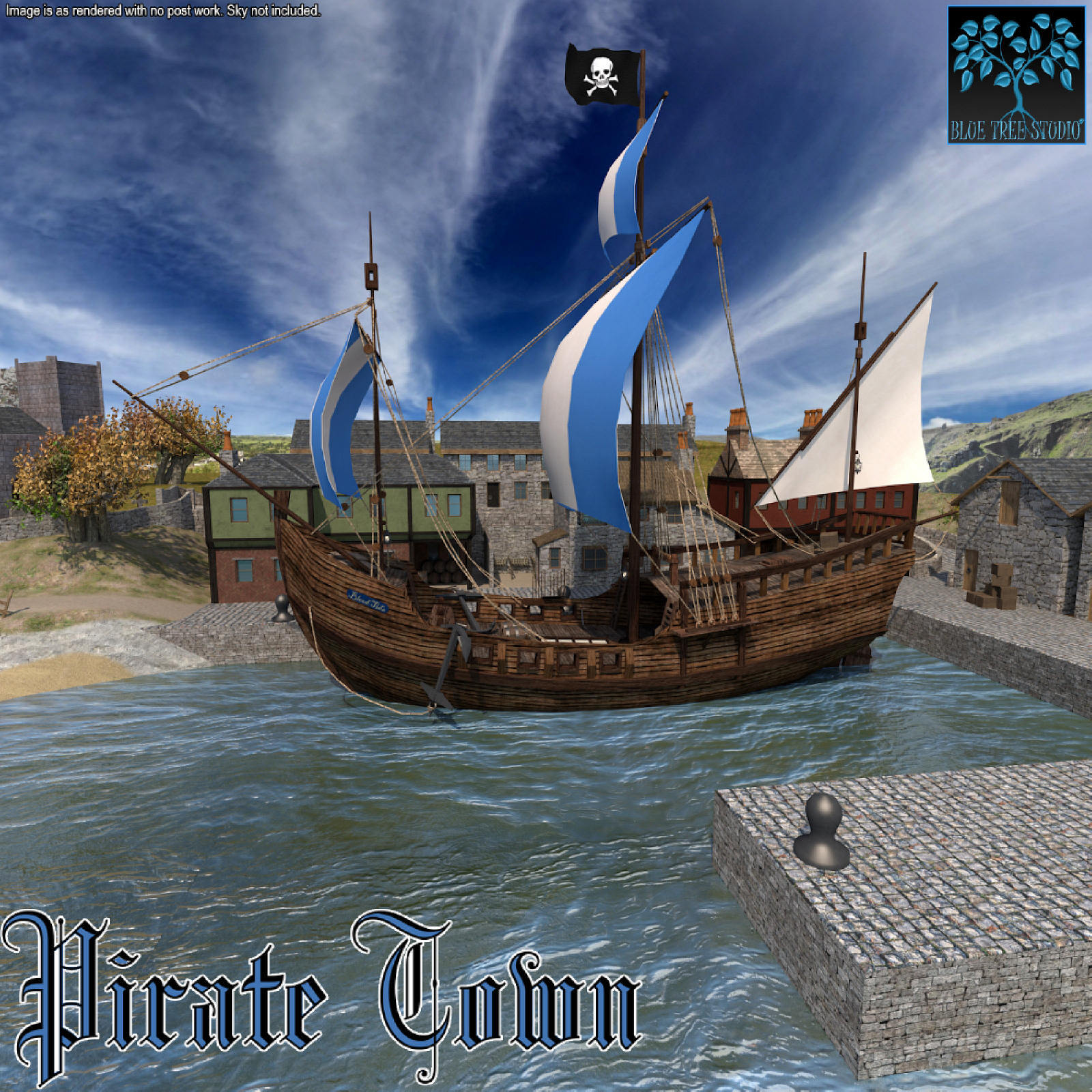 Pirate Town for Poser