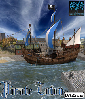 Pirate Town for DAZ|Studio 3D Models BlueTreeStudio