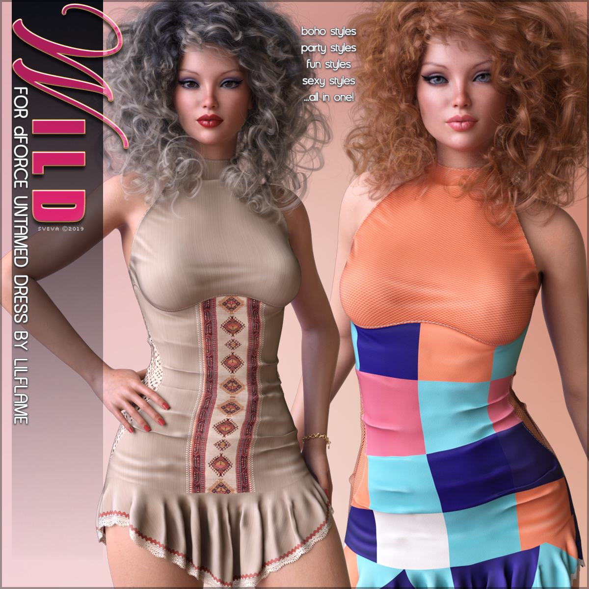 Wild for dForce Untamed Dress G8F by Sveva