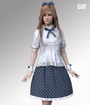 dForce G8FT Skirt for G8F 3D Figure Assets kobamax