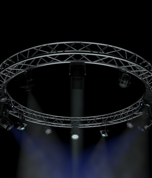 Circle Square Truss 400cm-Stage Lights - Extended License 3D Game Models : OBJ : FBX 3D Lighting : Cameras Extended Licenses akeryilmaz