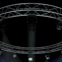 Circle Square Truss 400cm-Stage Lights - Extended License image 1