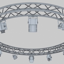 Circle Square Truss 400cm-Stage Lights - Extended License image 2
