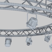 Circle Square Truss 400cm-Stage Lights - Extended License image 6