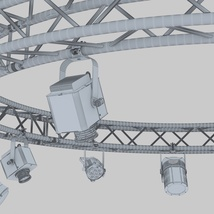 Circle Square Truss 400cm-Stage Lights - Extended License image 8