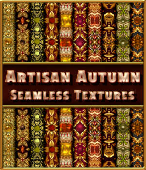 Artisan Autumn Seamless Textures 2D Graphics Merchant Resources fractalartist01