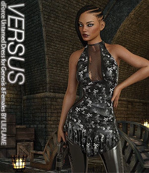 VERSUS - dForce Untamed Dress for Genesis 8 Females 3D Figure Assets Anagord