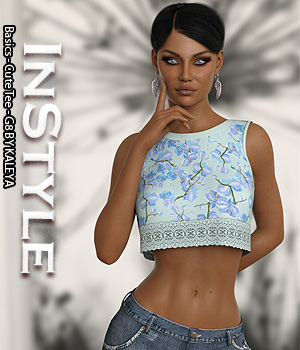 InStyle - Basics - Cute Tee - G8 3D Figure Assets -Valkyrie-