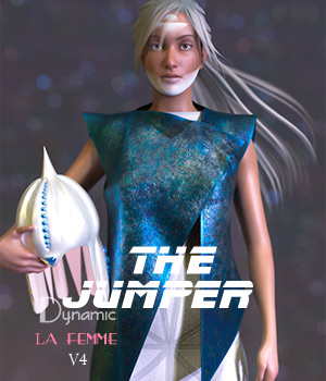 The Jumper 3D Figure Assets La Femme Pro - Female Poser Figure HWW0