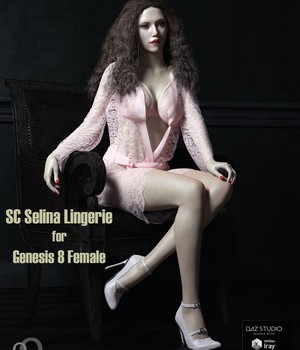 SC Selina Lingerie for Genesis 8 Female 3D Figure Assets secondcircle