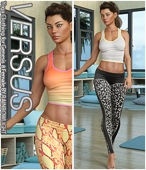 VERSUS - Yoga Clothing for Genesis 8 Female 3D Figure Assets Anagord