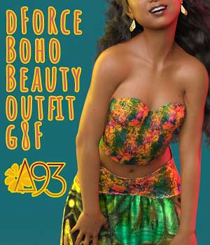 a93 - dForce BohoBeauty Outfit for G8F 3D Figure Assets anjeli93