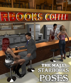 The Mall Starbooks poses 3D Figure Assets greenpots