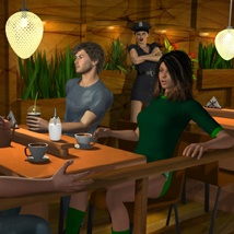 The Mall Starbooks poses image 3