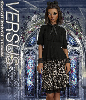 VERSUS - dForce G8FT Skirt for G8F 3D Figure Assets Anagord