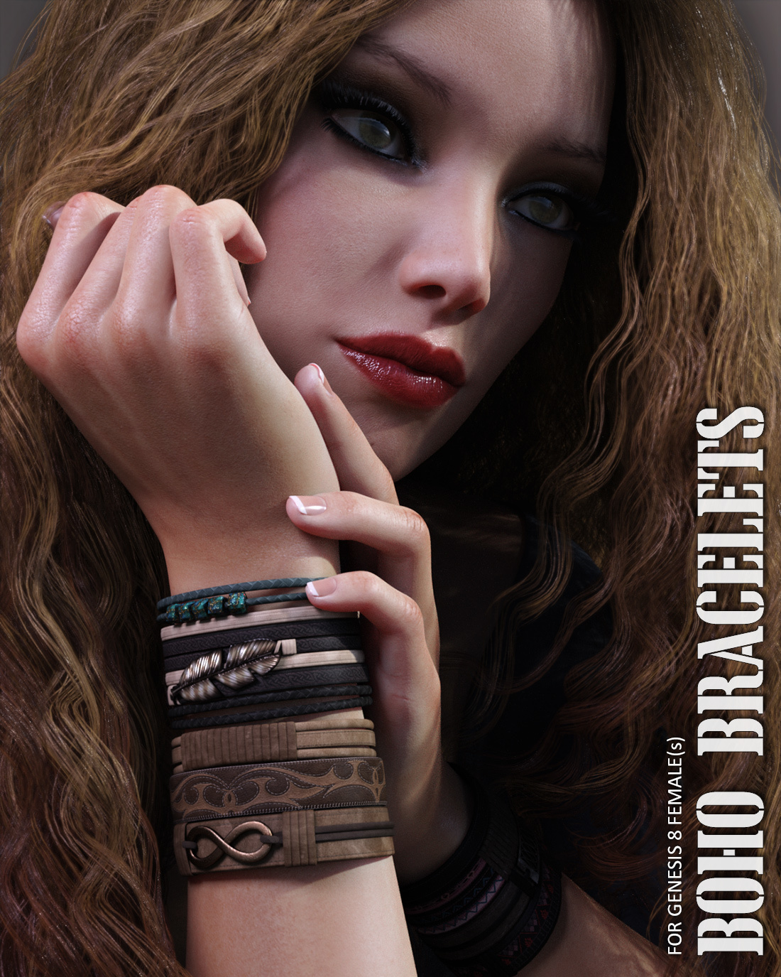 Boho Bracelets for Genesis 8 Females by lilflame