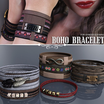 Boho Bracelets for Genesis 8 Females image 1