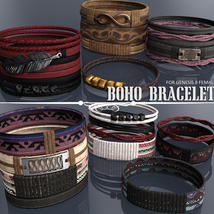 Boho Bracelets for Genesis 8 Females image 3