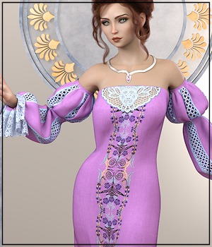 Epic: dForce - Isabella Dress for G8F 3D Figure Assets 3-DArena