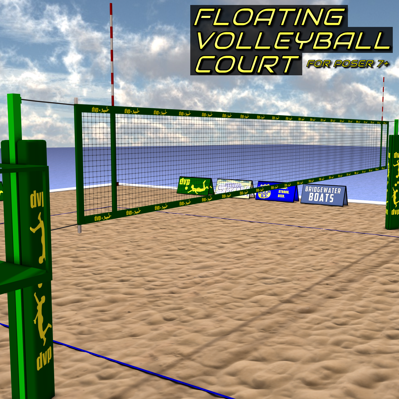 Floating Volleyball Court by DexPac