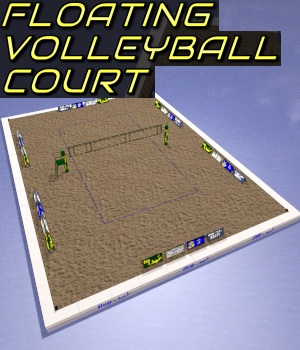 Floating Volleyball Court 3D Models DexPac