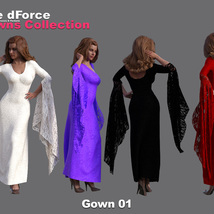 The dForce Gowns Collection for G8F image 1