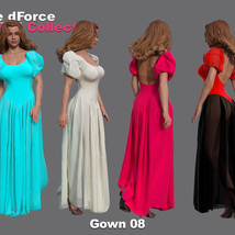 The dForce Gowns Collection for G8F image 8