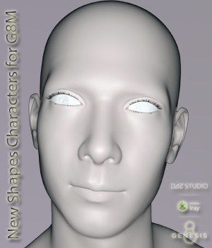 New Shapes Characters for G8 Male 3D Figure Assets bu_es