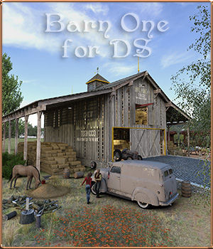 Barn One for DS 3D Models DreamlandModels