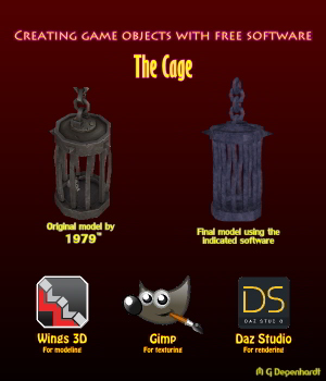 Creating game objects with free software - The Cage Tutorials : Learn 3D mgdegenhardt