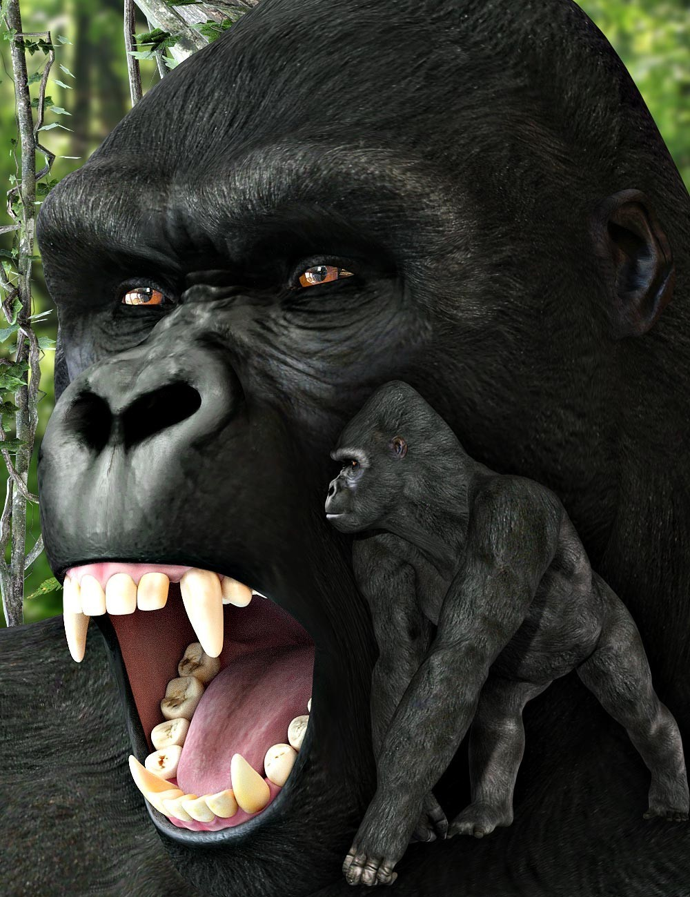 HiveWire Gorilla for Dusk by HiveWire3D