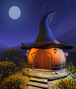 Witch Hat House 3D Models 1971s