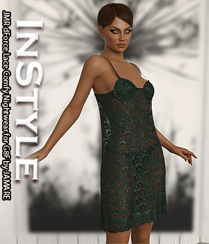 InStyle - JMR dForce Lace Comfy Nightwear for G8F 3D Figure Assets -Valkyrie-