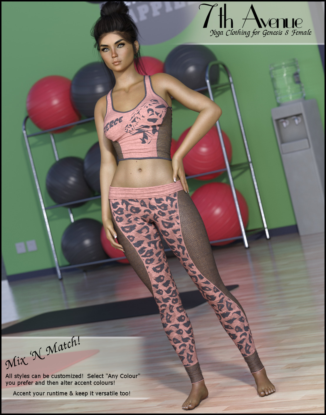 7th Ave: Yoga Clothing for Genesis 8 Female  by 3-DArena