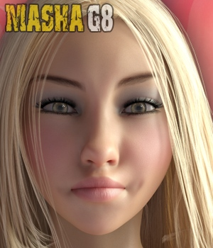 Masha - Beautiful Face and Body morphs for Genesis 8 3D Figure Assets hameleon