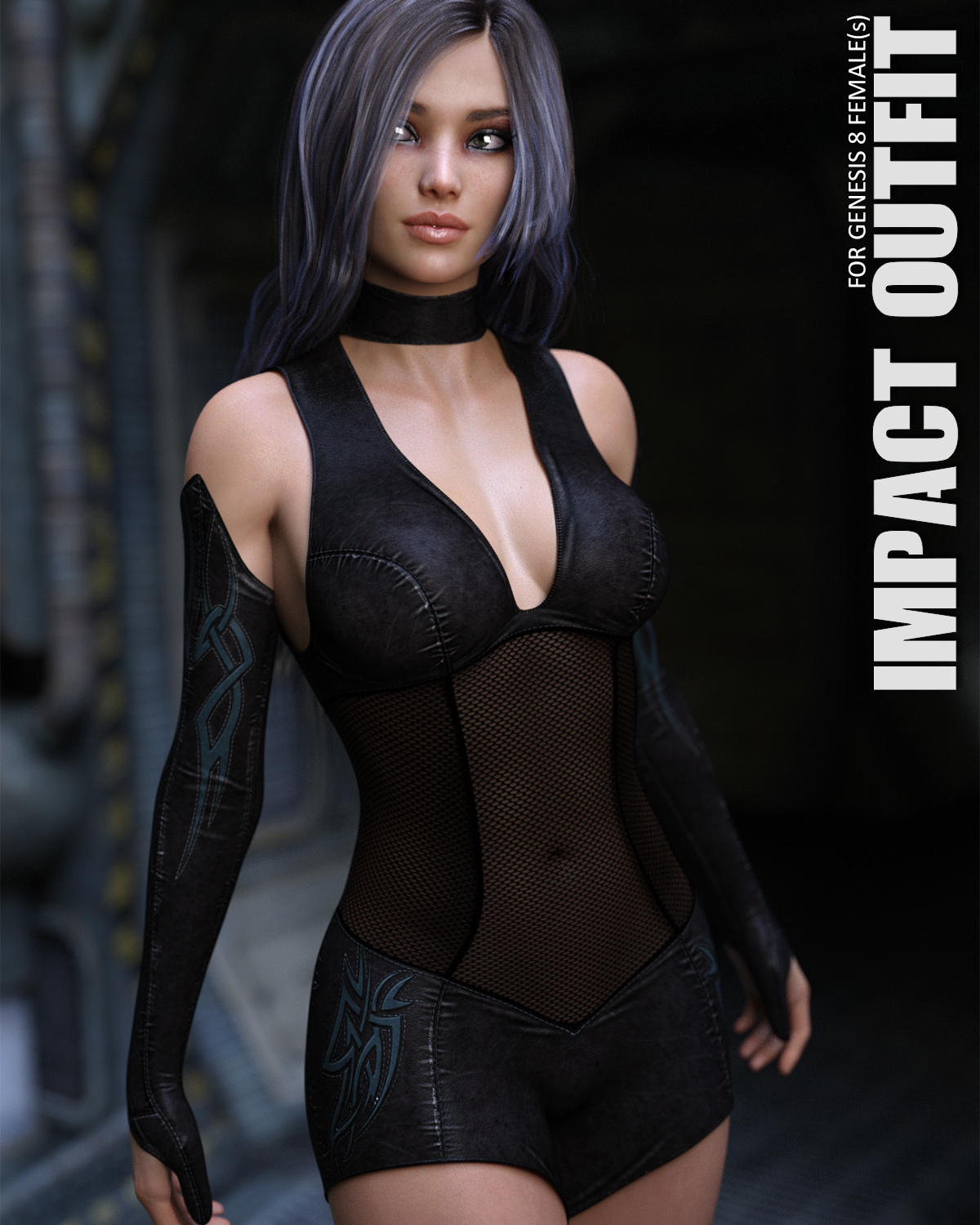 Impact Outfit for Genesis 8 Females by lilflame