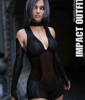 Impact Outfit for Genesis 8 Females 3D Figure Assets lilflame