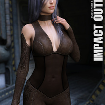 Impact Outfit for Genesis 8 Females image 1