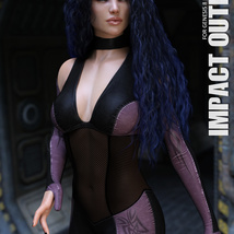 Impact Outfit for Genesis 8 Females image 2