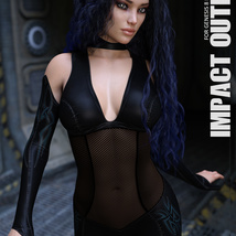 Impact Outfit for Genesis 8 Females image 3