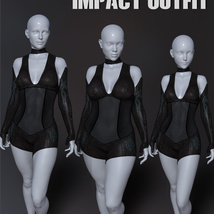 Impact Outfit for Genesis 8 Females image 5