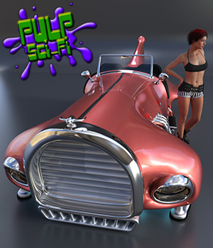 Flying Car for Poser and Daz Studio 3D Models coflek-gnorg