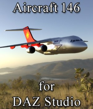Aircraft 146 (for DAZ Studio) 3D Models VanishingPoint