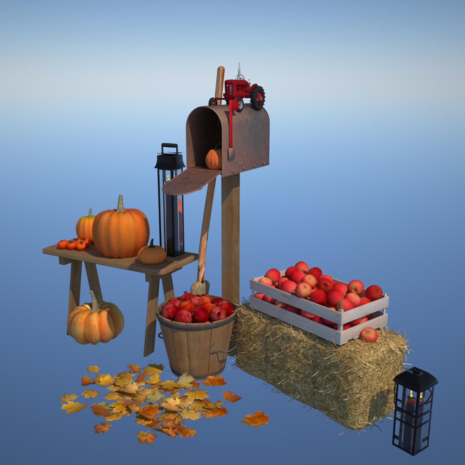 Autumn Decor Bundle 1 - OBJ