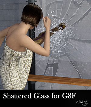 Shattered Glass for G8F 3D Figure Assets biala